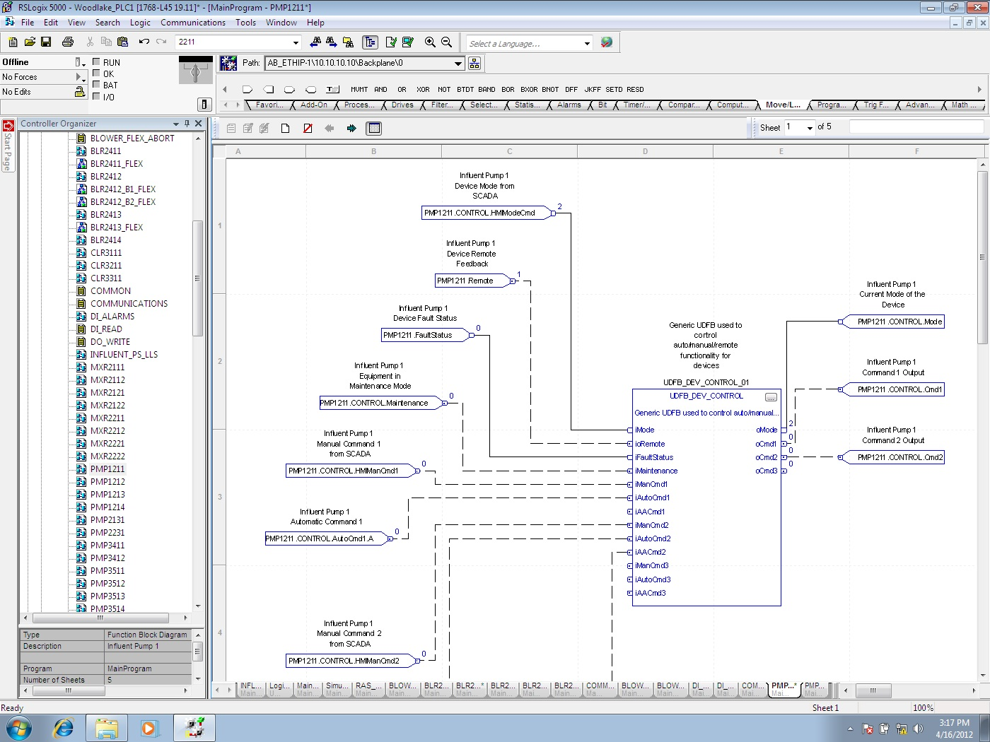 RSLogix 5000 Function Block Diagram Example
